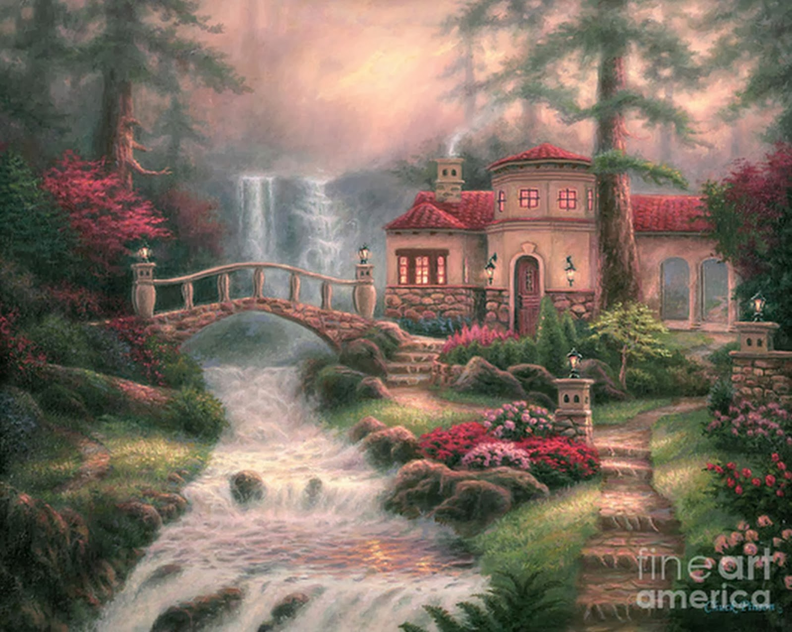 Cuadros modernos pinturas y dibujos hermosos paisajes al - Los cuadros mas bonitos ...