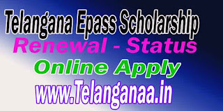 TS Telangana ePass Fresh Scholarship Online Application Apply