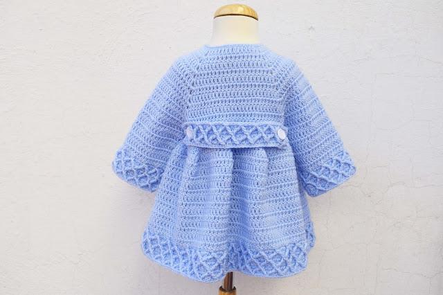 3 -Crochet Imagen Abrigo azul a crochet y ganchillo por Majovel Crochet