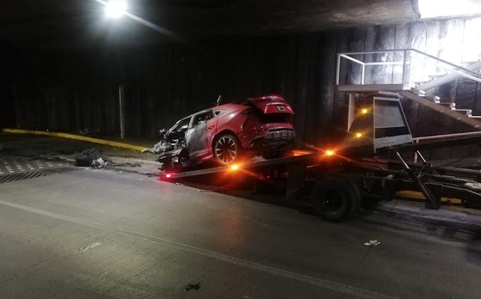 ¡Se calcinó luego de estrellar su Lamborghini! (VIDEO)