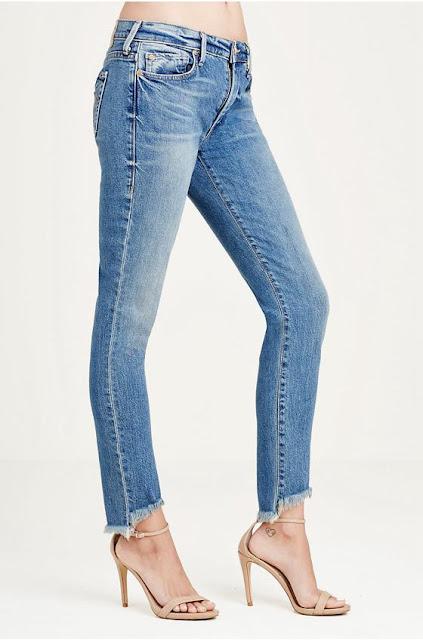 Halle Super Skinny Mullet Hem Womens Jeans