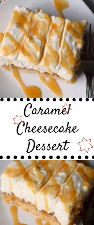 No Bake Caramel Cheesecake #christmas #dessert