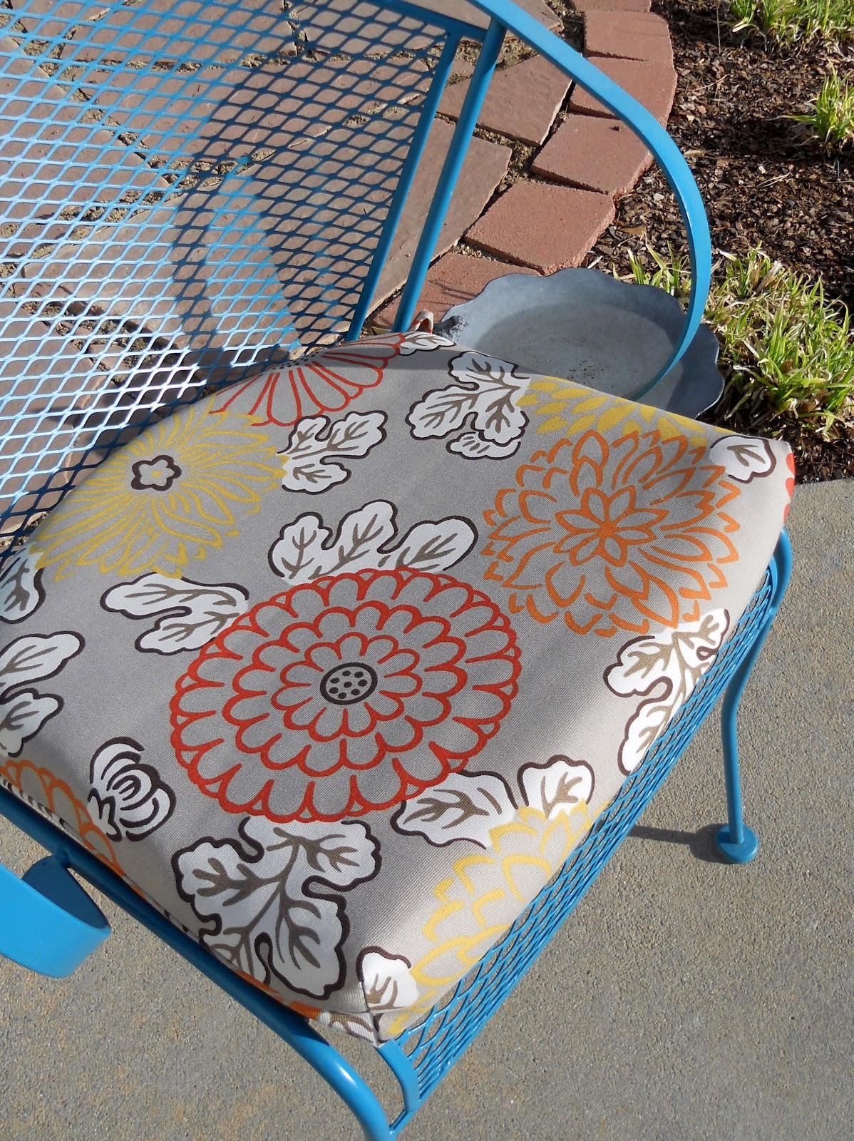 Sewing Patterns For Patio Chair Cushions French Wingback Just Another Hang Up How To Recover An Outdoor Cushion