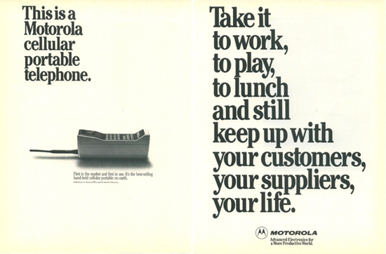 Motorola DynaTAC 8000X advertising