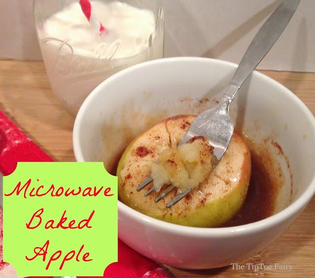 Baked Microwave Apples | The TipToe Fairy