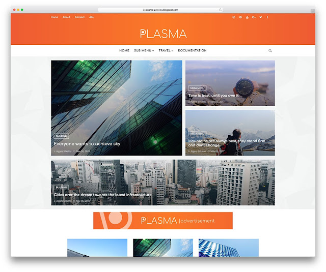 Plasma template for blogger, blogger templates, free blogger templates, 2018 blogger templates
