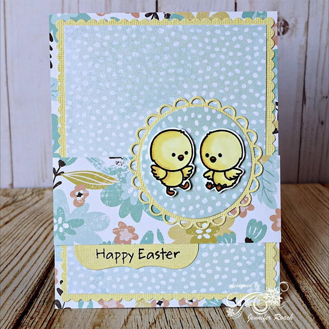Sunny Studio Stamps: Chickie Baby Customer Card by Jennifer Roach
