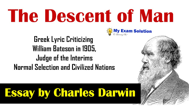 The Descent of man, Charles Darwin, Descent of man,