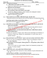 Pedagogy of Physical Science B.Ed Question Paper