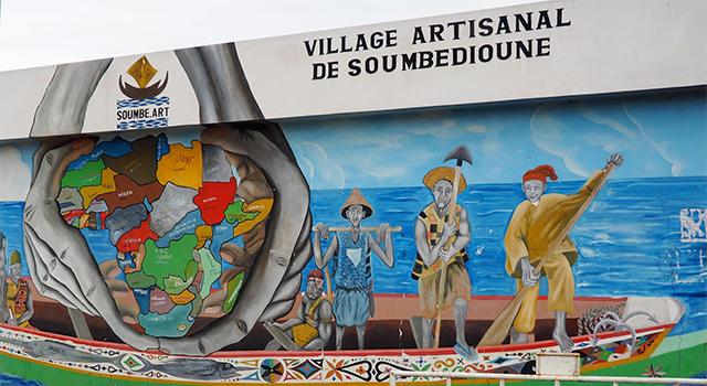 LE VILLAGE ARTISANAL DE SOUMBEDIOUNE : Tourisme, hôtel, plage, culture, vacance, parcs, LEUKSENEGAL, Dakar, Sénégal, Afrique