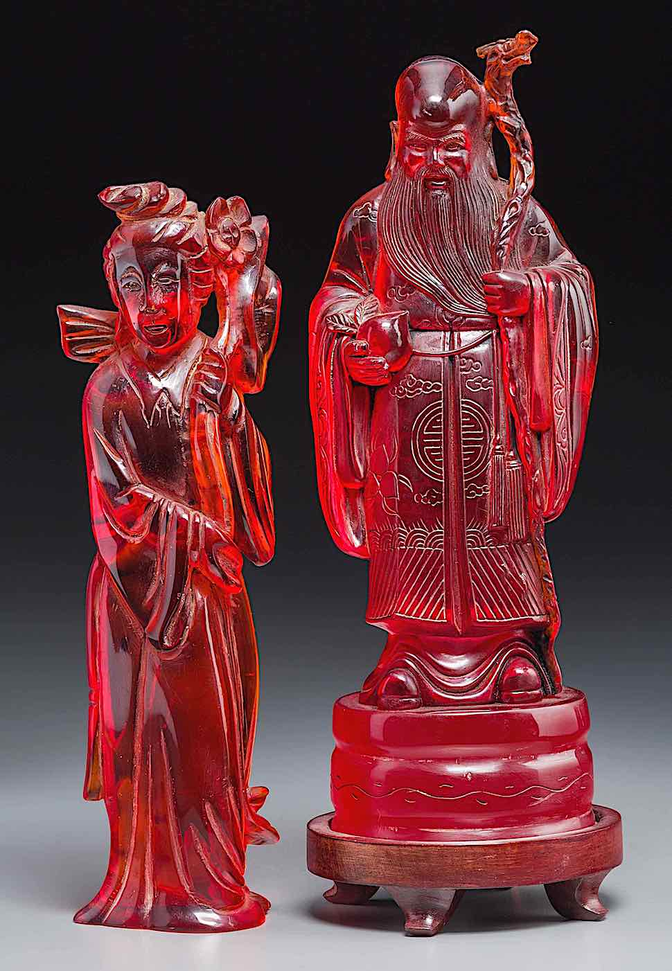 red cast resin ancient China
