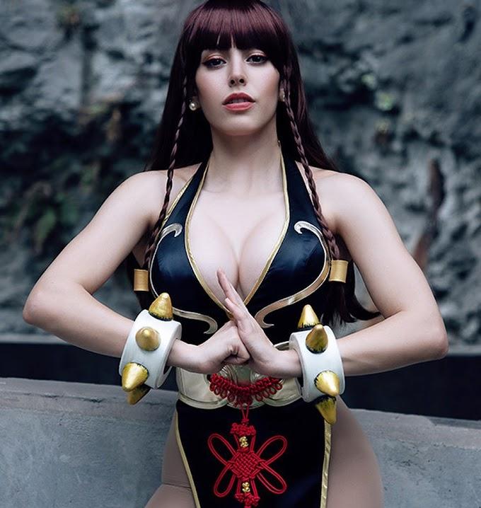 Nadyasonika con su cosplay de Chun Li