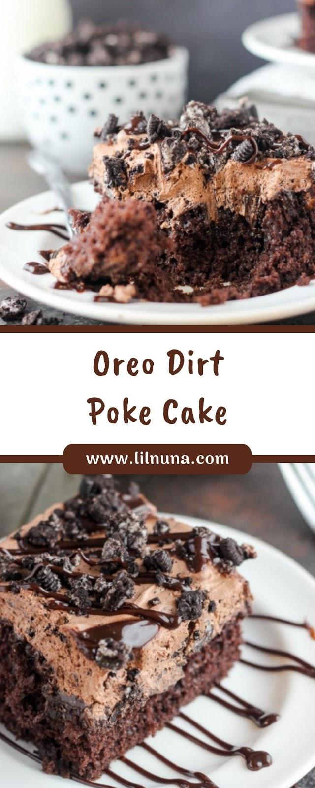 Oreo Dirt Poke Cake