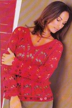 Patrón #770: Blusa a Crochet