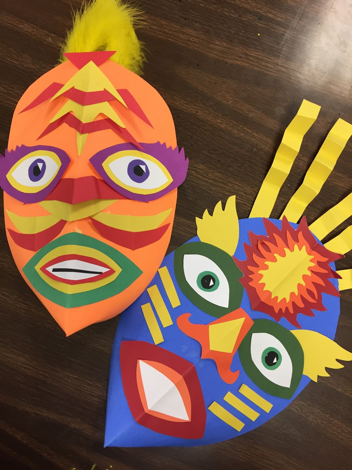 Elements Of The Art Room 5th Grade Masks