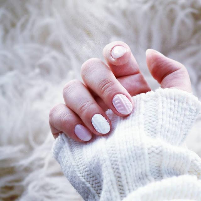 knitted nails jak zrobić