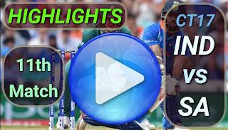 IND vs SA 11th Match