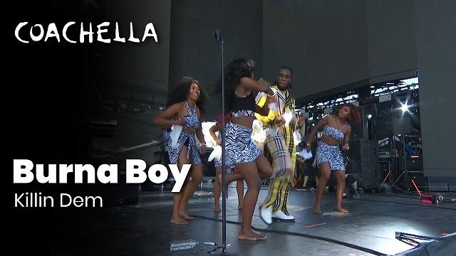 [Video] Burna Boy Performs 'Killin Dem' At Coachella 2019