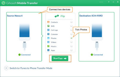 Transfer photos from Android to Android with soft Mobile Transfer
