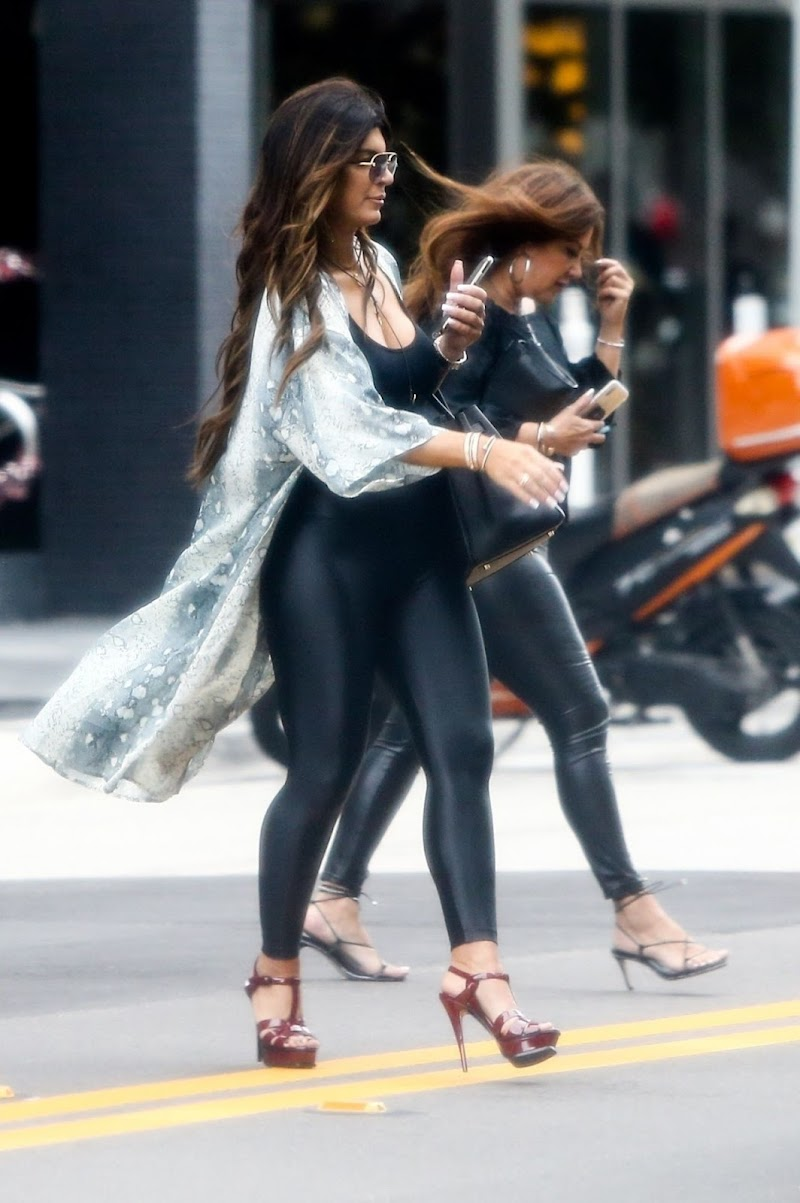 Teresa Giudice Clicked in Tights 30 Dec-2019