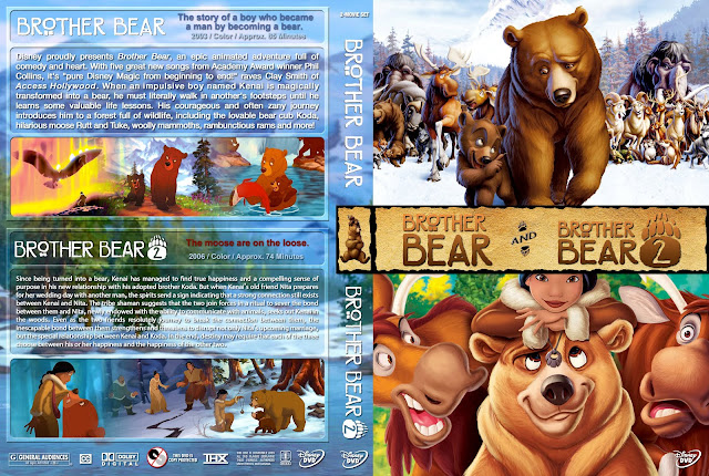 Brother Bear And Brother Bear 2 DVD Cover
