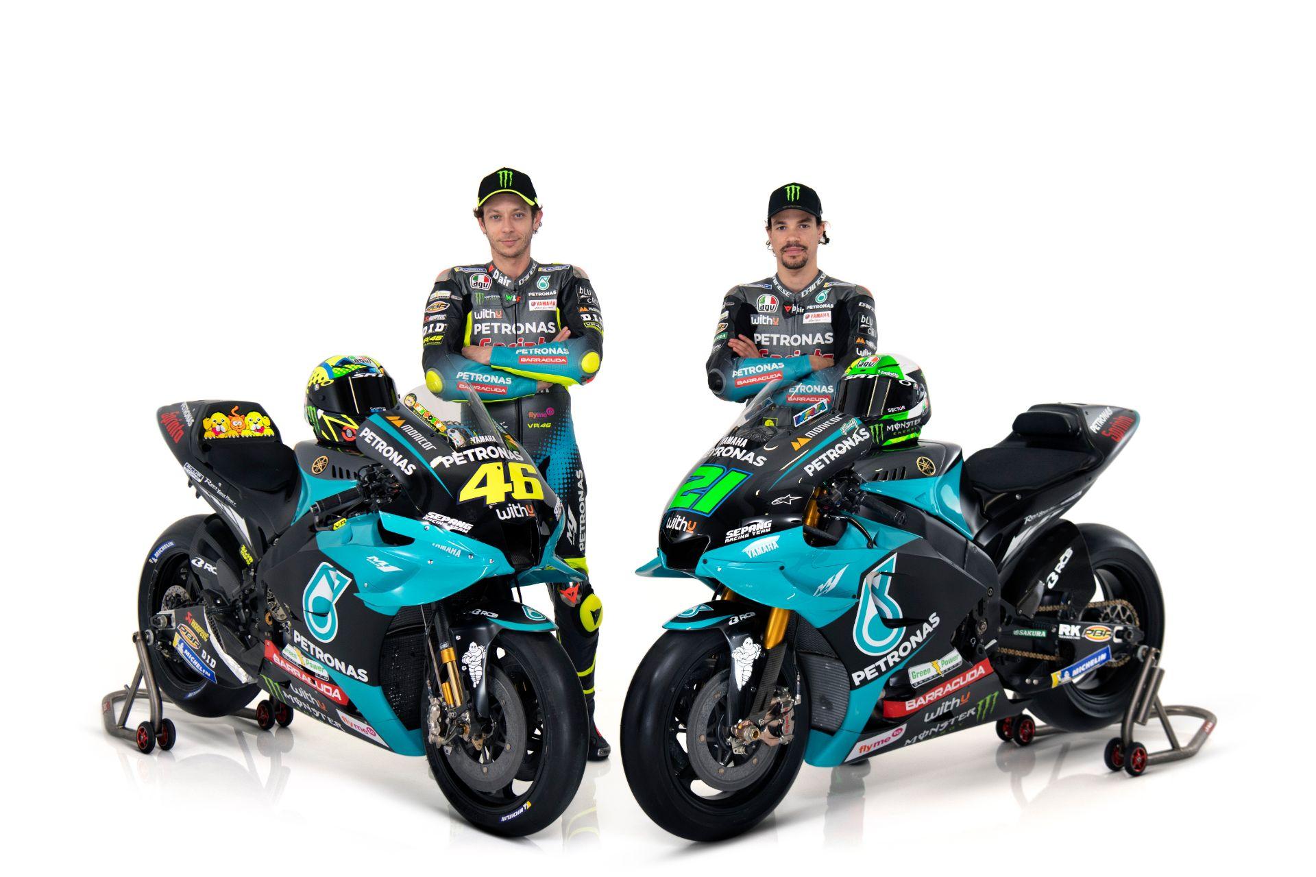 Pindah ke Tim Satelit, ini penampakan perdana Valentino Rossi gunakan atribut tim Petronas Yamaha SRT 2021