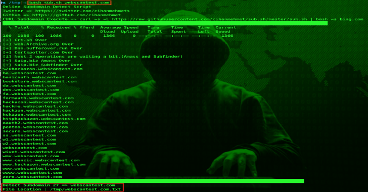 Sub.sh : Online Subdomain Detect Script