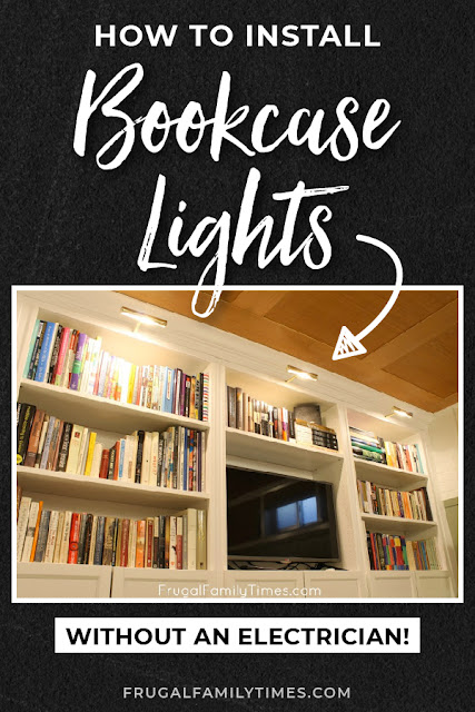 bookshelf lighting diy
