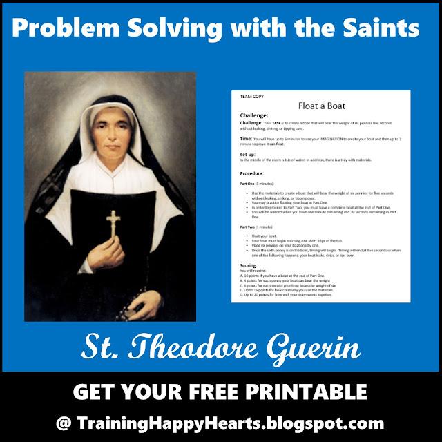 http://traininghappyhearts.blogspot.com/2016/10/Saint-Theodore-Guerin-Design-Challenge.html
