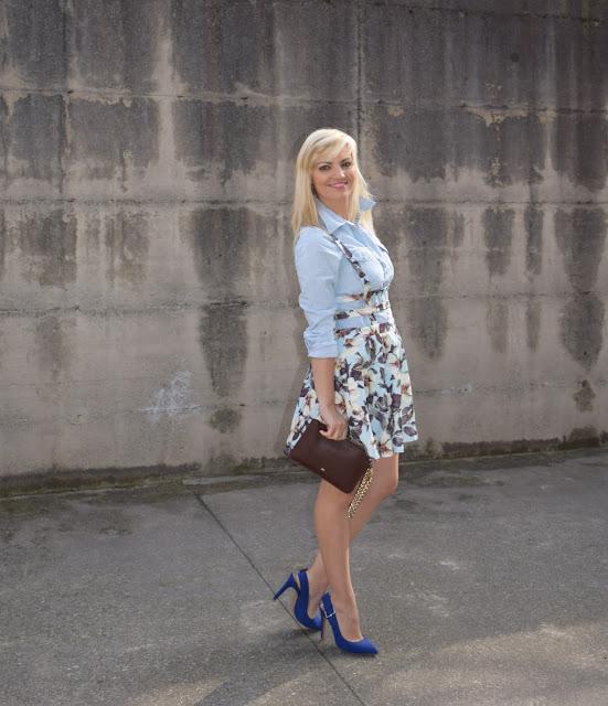 outfit abito fiori come abbinare un abito fiori abbinamenti abito fiori outfit aprile 2017 outfit primaverili  mariafelicia magno fashion blogger colorblock by felym fashion blog italiani fashion blogger italiane blog di moda