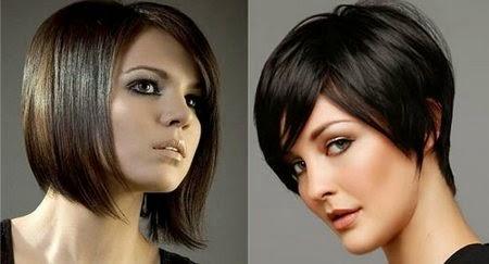 tren pilihan gaya rambut pendek 2014 16
