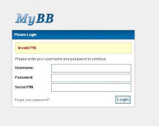 Mybb Admin Panel Ek Güvenlik