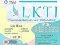Lomba Karya Tulis Ilmiah PHYSICS FAIR 2020