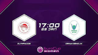 Οι κριτές του Ολυμπιακός -Ορμάν (Eurocup γυναικών ) σήμερα στο ΣΕΦ (17.00)