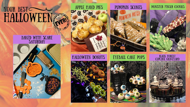 Your Best Halloween Ever, Baked with Scare Saturday Year One Recap, Halloween baking dessert recipe, best Halloween desserts, easy Halloween party treats