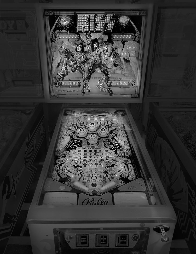 07-Kiss-Michael-Massaia-Black-and-White-Photographs-Funfair-and-Pinball-Machine-www-designstack-co