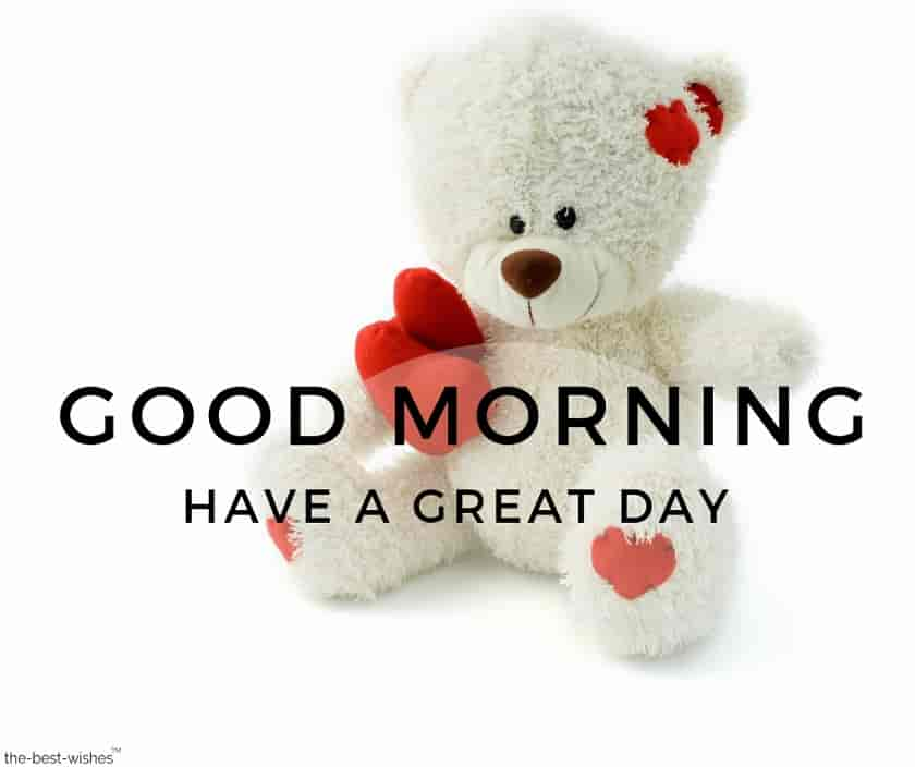 good morning images with teddy bear