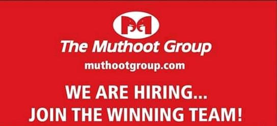 Muthoot Group hiring Various Posts Apply Now