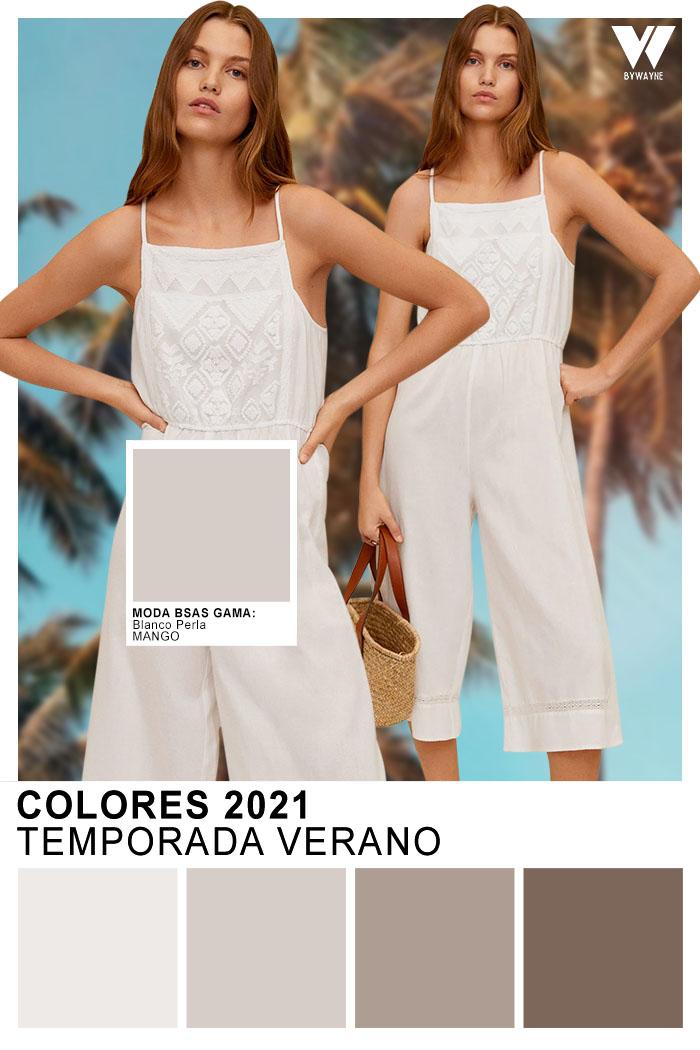 Colores de moda blanco primavera verano 2021