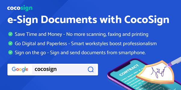 Cocosign e sign document