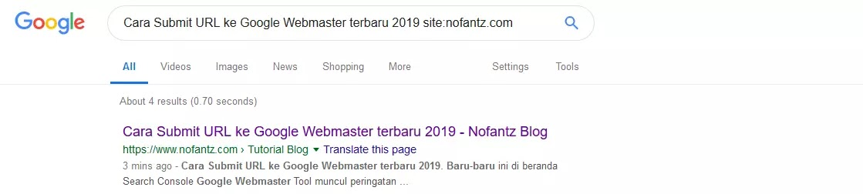 Cara Submit URL ke Google Webmaster terbaru