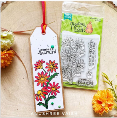Thanks bunches by Anushree features Dainty Daisies by Newton's Nook Designs; #newtonsnook
