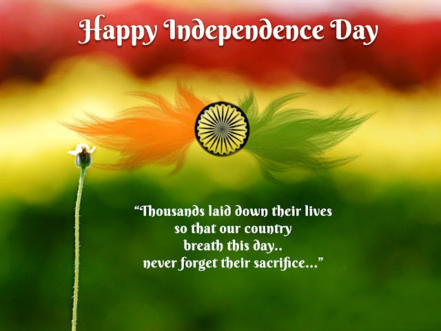 Independence Day Quotes with Images Wallpapers in English Hindi