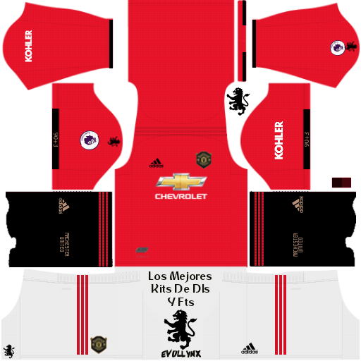 new style 2aa6f 74677 Manchester United kits 2019-2020 in Dream League soccer 2019