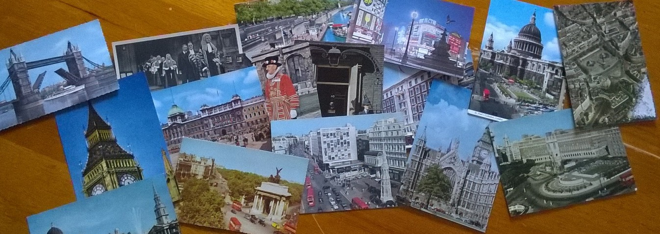 vintage, postcards, London,