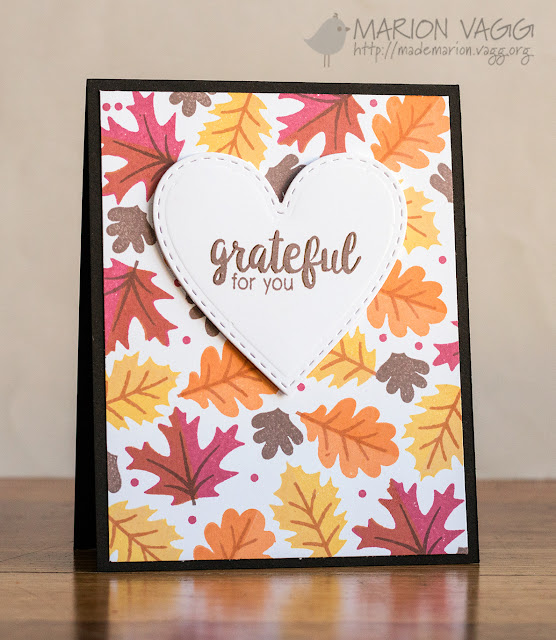Sunny Studio Stamps:  Autumn Splendor Fall Leaves Card by Marion Vagg (using Stitched Heart Dies)