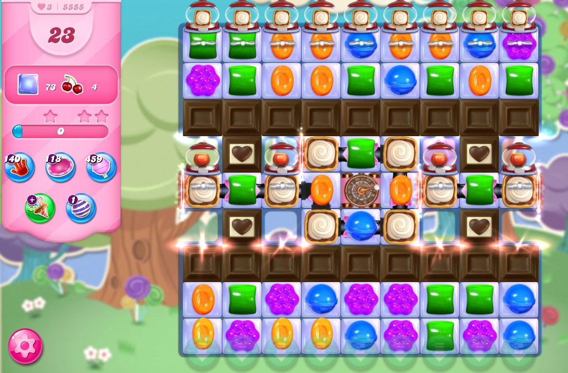 Candy Crush Saga level 5555