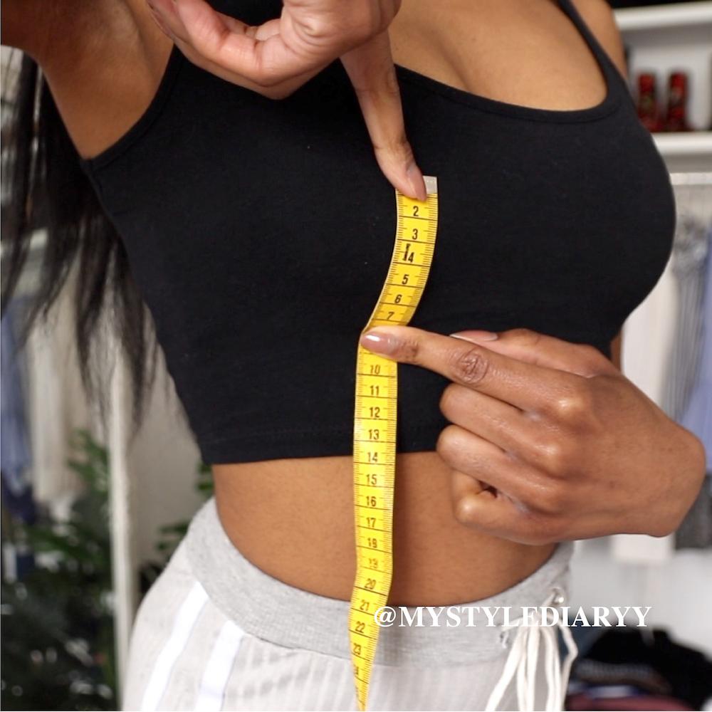 How to measure nipple to underbust measurement aka bust radius