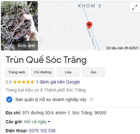 Trùn Quế Sóc Trang on Google Maps