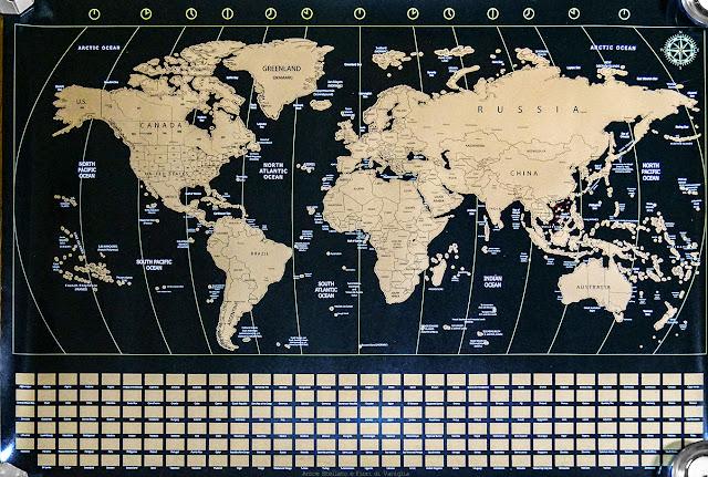 mappa mondo poster amazon